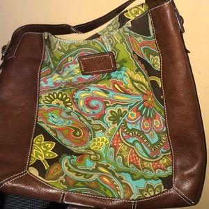 Kate Spade Malva Paisley cotton and leather Hobo